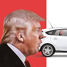 Amazon Com Ouriko Donald Trump Decals Car Stickers Funny Window Easy Removal Leaves No Residue 13 Inches Right Kitchen Dining