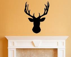Deer Wall Decal Etsy