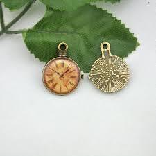 10pcs antique bronze enamel pocket