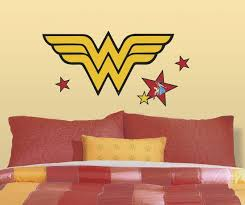 Classic Wonder Woman Logo Peel And Stick Giant Wall Decals Wall Decal Allposters Com