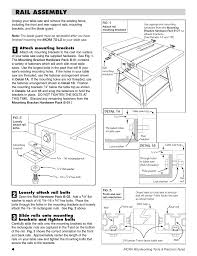 Rail Assembly Incra Ts Ls Table Saw Fence User Manual Page 4 12