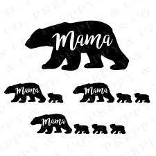 Mama Bear Vinyl Decal Mama Bear And Cubs Vinyl Decals Cubs Tattoo Mama Bear Shirt