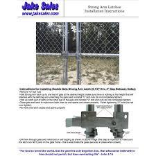 Amazon Com Jake Sales Chain Link Gate Latches Drop Rods