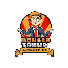 donald trump cartoon logo
