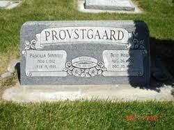 Priscilla Simmons Provstgaard (1912-1935) - Find A Grave Memorial