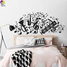 Large Music Note Guitar Speaker Violin Rock Wall Sticker Decal Sofa Bedroom Bedside Vinyl Mural For Kids Room Children Room Aliexpress