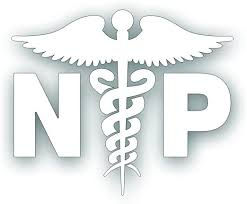 Amazon Com Np Caduceus Decal For Nurse Practitioner Hospital Health Care Medical Field Worker Windshield Or Bumper Sticker 5 X 6 1 4 Inch In White Kitchen Dining