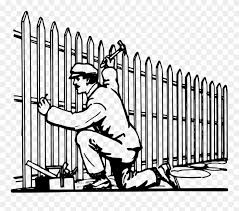 Drawn Fence Garden Clip Art Fence Clipart Black And White Png Download 1193236 Pinclipart
