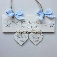 personalised twins newborn baby gift