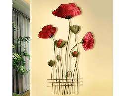Red Poppy Metal Wall Decor Samiksha S