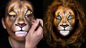 lion makeup face painting tutorial