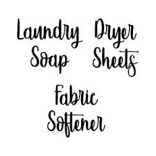 Laundry Room V3 Set Vinyl Decals Laundry Soap Fabric Softener Dryer Sheets Ebay