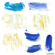 marble style blue and yellow paint