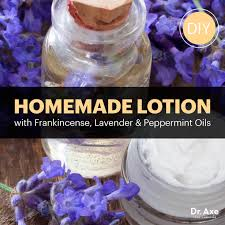 homemade lotion with frankincense