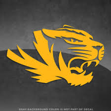 Missouri Tigers Logo Vinyl Decal Sticker 4 And Up More Colors Ebay