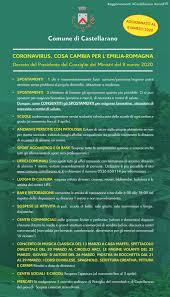 CORONAVIRUS: IL NUOVO DPCM DELL'8 MARZO 2020 – Comune di Castellarano