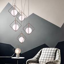 modern led pendant light glass ball