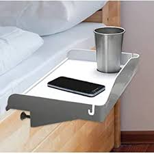 Amazon Com Bedside Shelf For Bed College Dorm Room Clip On Nightstand With Cup Holder Cord Holder Nightstand For Students Bunk Bed Shelf For Top Bunk Kids Nightstand