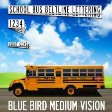 Blue Bird Vision School Bus Lettering