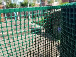 Green Plastic Garden Mesh 9x9mm Square Mesh Plastic Fencing Mesh
