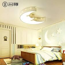 Cttsb Ceiling Light Kids Room Light Princess Girl Creative Boy Room Star Moon Eye Eye Cottage Lights 45cm Promise Dimming With Remote Control Amazon Com
