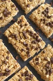honey oats chocolate chip granola bars