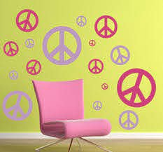 Peace Sign Wall Decal Pack Trading Phrases
