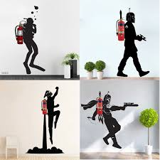 12 Design Fire Extinguisher Wall Decal Skuba Boba Fett Spaceman Astronaut Rocketeer Jetpack Vinyl Sticker Home Room Decor Mural Wall Stickers Aliexpress
