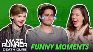 Dylan O'Brien Crying - Maze Runner Bloopers Funny Moments: The Death Cure -  YouTube