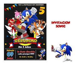 Invitacion Sonic 1 500 En Mercado Libre