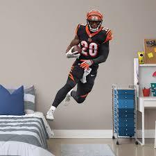 Fathead Joe Mixon Cincinnati Bengals 3 Pack Life Size Removable Wall Decal