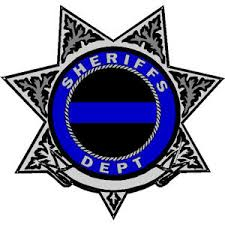 7 Point Star Badge Blue Line Deputy Sheriff Decal At Sticker Shoppe