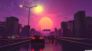 retro city hd wallpaper