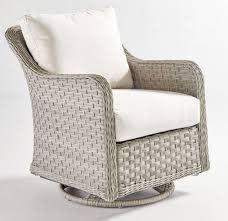 antiqua outdoor wicker swivel glider chair