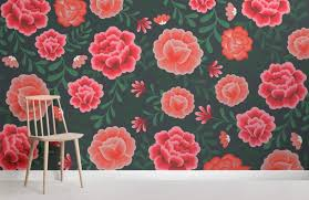 mexican flower wallpaper muralswallpaper