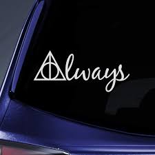2019 New Bargain Max Decals Always Deathly Hallows Hp Sticker Decal Notebook Car Laptop 8 White Wish