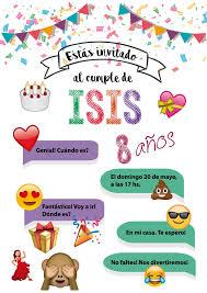 Tarjeta De Invitacion De Emojis Tarjetas De Invitacion
