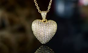 18k gold plated heart pendant