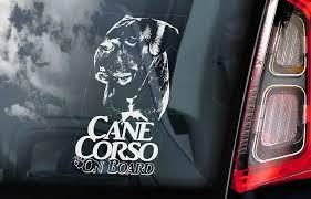 Cane Corso Car Sticker Dog Sign Window Bumper Decal Gift Italian Mastiff V04 Ebay