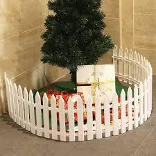 Amazon Com Amosfun White Plastic Picket Fence Miniature Home Garden Christmas Xmas Tree Wedding Party Decoration 25 Pieces Home Kitchen