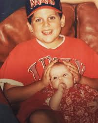 Jonah Hill with his new baby sister ...