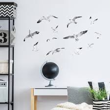 Beautiful Seagulls Wall Stickers For Nautical Homes Made Of Sundays
