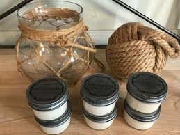 large nautical rope ball glass jar