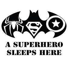Diy Stick And Peel Batman Superman Spider Man And Captain America Symbol Kids Bedroom Decor Home Decoration Sticker 14 X 20 Vinyl Adhesive Superhero Den Quotes Wall Decal A Superhero Sleeps Here