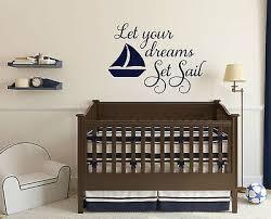 Let Your Dreams Set Sail Boat Nautical Vinyl Wall Decals Nursery Room Decor Ebay