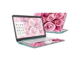 Skin Decal Wrap For Hp Chromebook 14 2015 Cover Skins Pink Roses Newegg Com