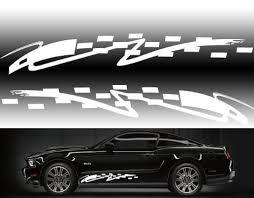Fgd Car Side Racing Stripe Graphics Sticker Decal Set Universal Car Truck Suv 48 X 8 Family Graphix Llc