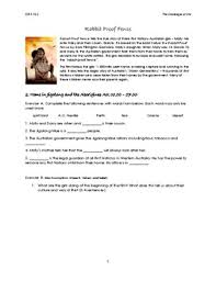 Rabbit Proof Fence Worksheets Teaching Resources Tpt