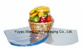 clear pvc shrink cello basket bag