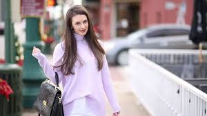Abigail Wright Lavender Outfit - YouTube